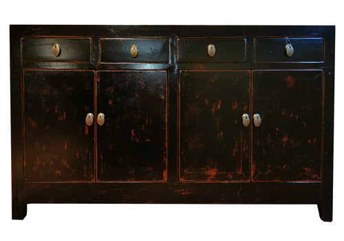 Fine Asianliving Buffet Chinois Antique Noir L155xP45xH94cm
