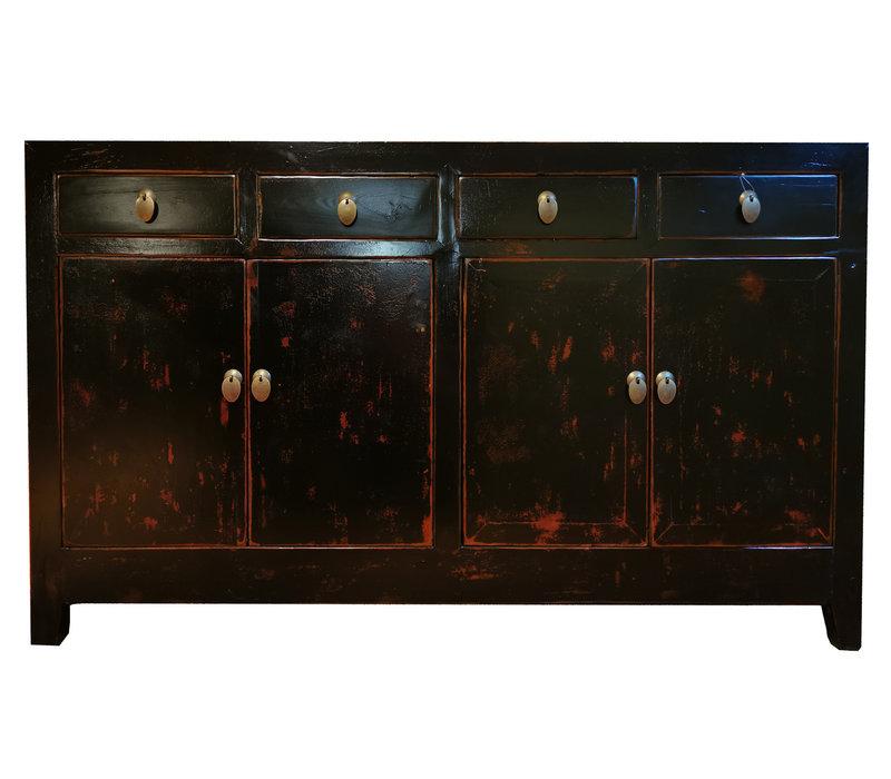 Antieke Chinese Dressoir Zwart B155xD45xH94cm
