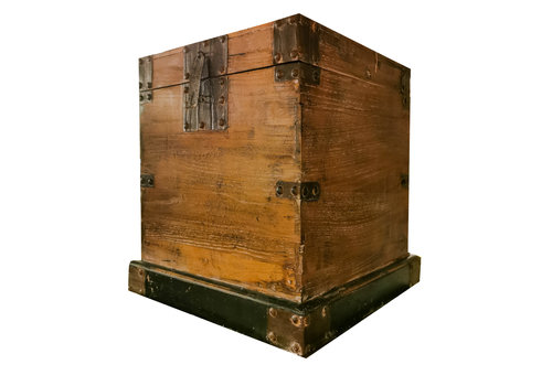 Fine Asianliving Antique Chinese Storage Chest W47xD47xH51cm Natural