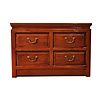 Fine Asianliving Chinese Cabinet 4 Drawers Brown