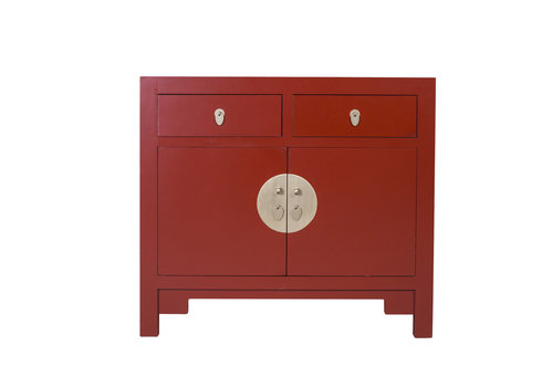 Fine Asianliving Armoire Chinoise Rouge Rubis - Orientique Collection L90xP40xH80cm