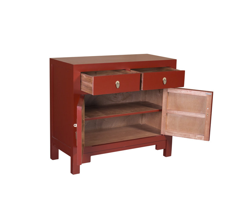 Chinese Kast Ruby Rood - Orientique Collection B90xD40xH80cm