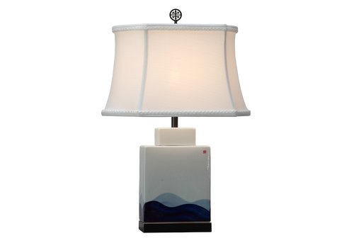 Fine Asianliving Chinese Table Lamp Porcelain with Lampshade Hand-painted