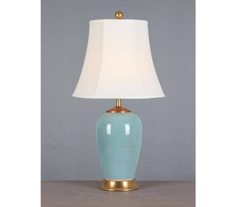 Oosterse Tafellamp Porselein Glassy Blauw