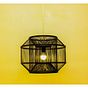 Fine Asianliving Bamboo Pendant Lamp Black Ceiling Lighting Handmade - Carlson D50xH35cm