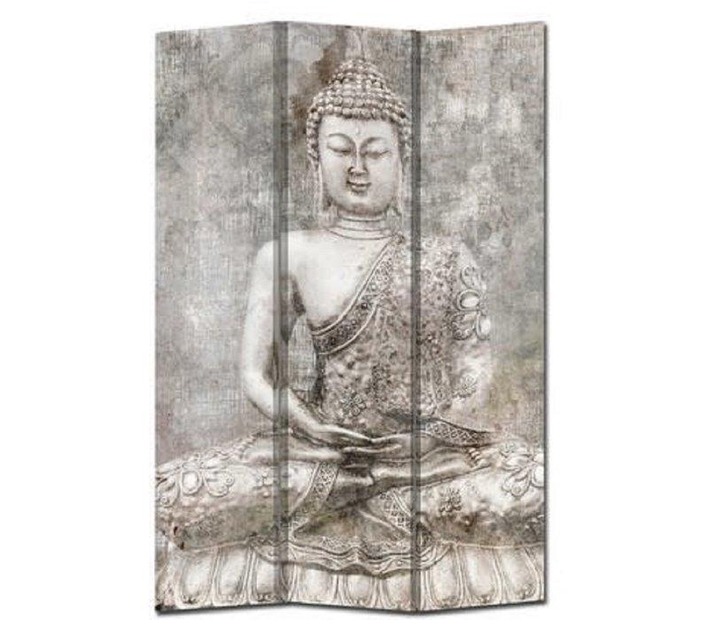 Room Divider Privacy Screen 3 Panels W120xH180cm Buddha