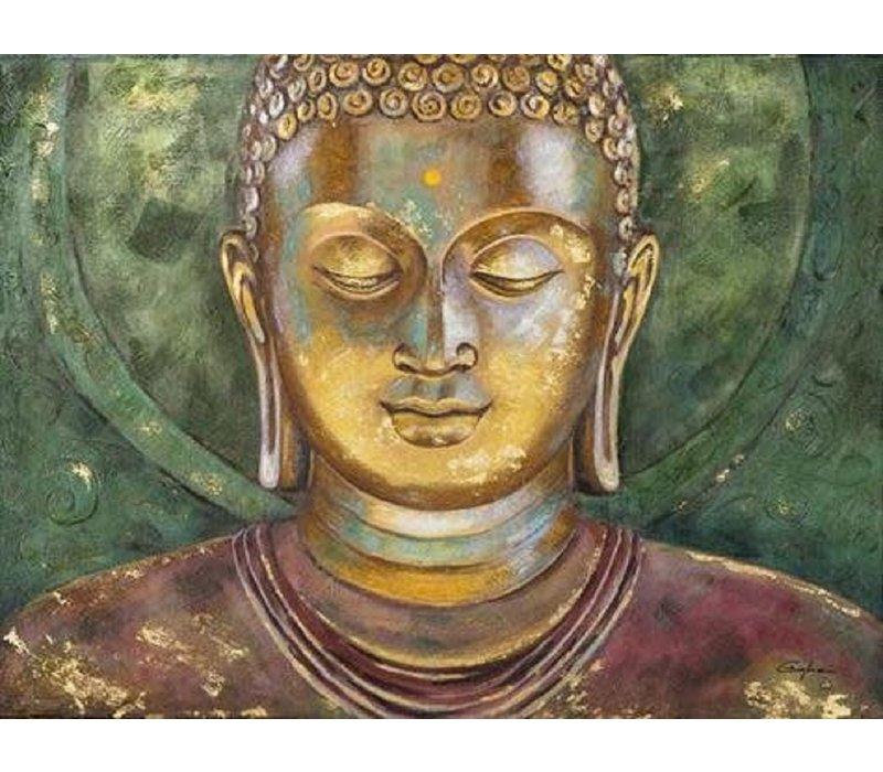 Painting Buddha Handpainted
