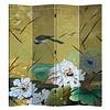 Fine Asianliving Chinees Kamerscherm Oosters Scheidingswand B160xH180cm 4 Panelen Zwaluwen en Bloemen