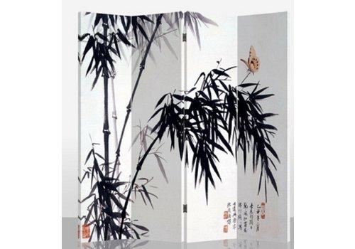 Fine Asianliving Paravent Raumteiler B160xH180cm 4-teilig Bambus