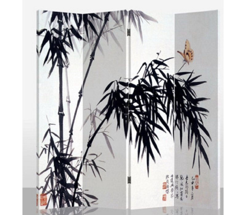 Raumteiler Trennwand B160xH180cm 4-teilig Bambus