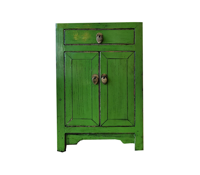 Chinese Nachtkastje Glossy Groen B40xD32xH60cm