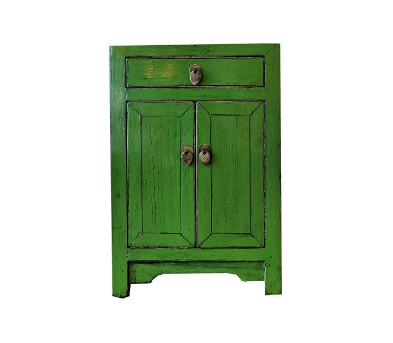 Chinesischer Nachttisch Nachtschrank Grün B40xT32xH60cm