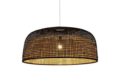 Fine Asianliving Bamboe Webbing Hanglamp Zwart - Sydney D65xH30cm
