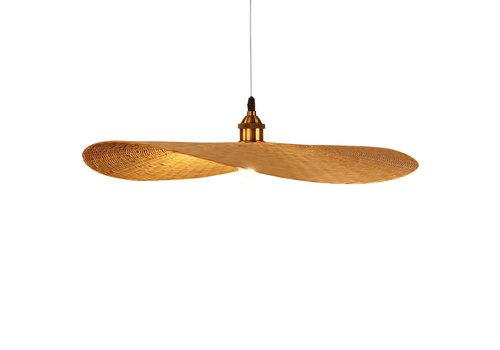 Fine Asianliving Bamboo Hanging Lamp Handmade - Odette W70xD65xH8cm