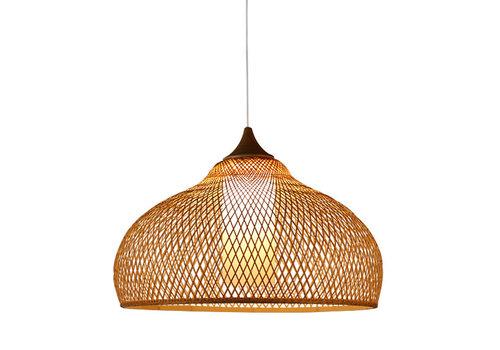Fine Asianliving Lampe Bambus Webbing Handgefertigt - Rosa D52xH30cm