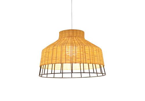 Fine Asianliving Lampada a Sospensione in Bambù Industriale - Trinity D40xA28cm