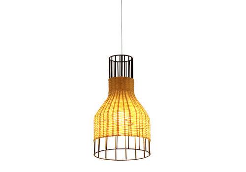 Fine Asianliving Lampada a Sospensione in Bambù Industriale - Xiron D20xA35cm