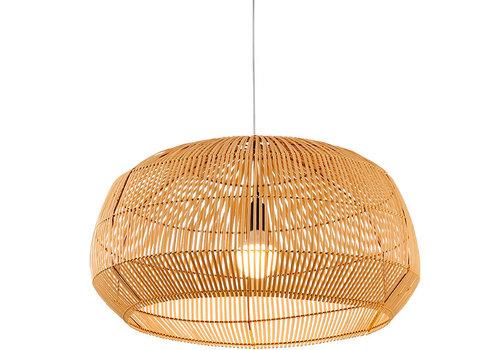 Fine Asianliving Lámpara de Techo de Bambú Cincha Hecha a Mano - Ariel D.73xA40cm