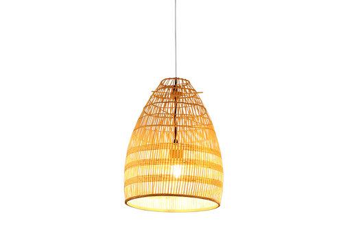 Fine Asianliving Lámpara de Techo de Bambú Cincha Hecha a Mano - Violeta D.29xA42cm