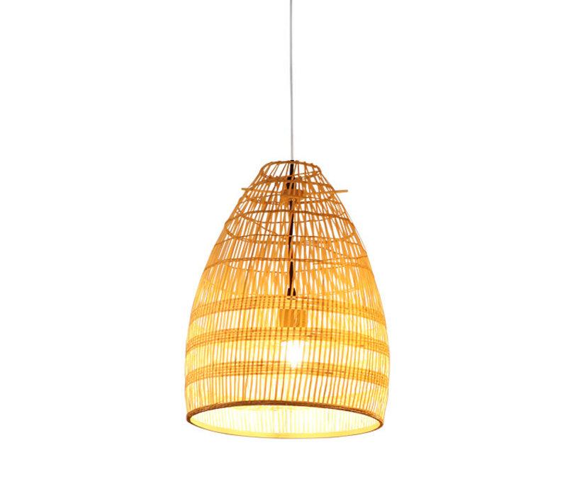 Bamboe Webbing Hanglamp Handgemaakt - Violet D29xH42cm