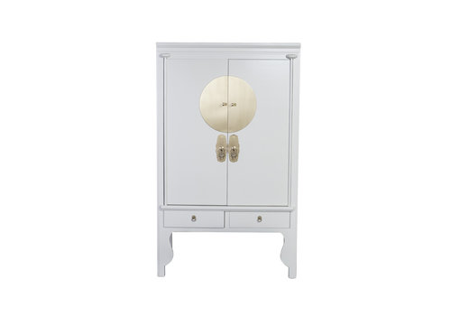 Fine Asianliving Chinese Wedding Cabinet Moonshine Greige - Orientique Collection W100xD55xH190cm