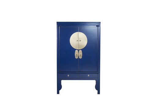 Fine Asianliving Chinese Wedding Cabinet Midnight Blue - Orientique Collection W100xD55xH190cm