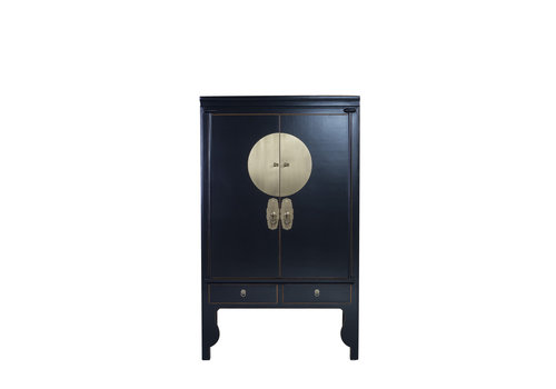 Fine Asianliving Chinese Wedding Cabinet Onyx Black - Orientique Collection W100xD55xH190cm