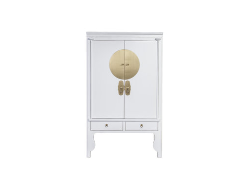 Fine Asianliving Chinese Bruidskast Wit - Sneeuwwit - Orientique Collection B100xD55xH175cm