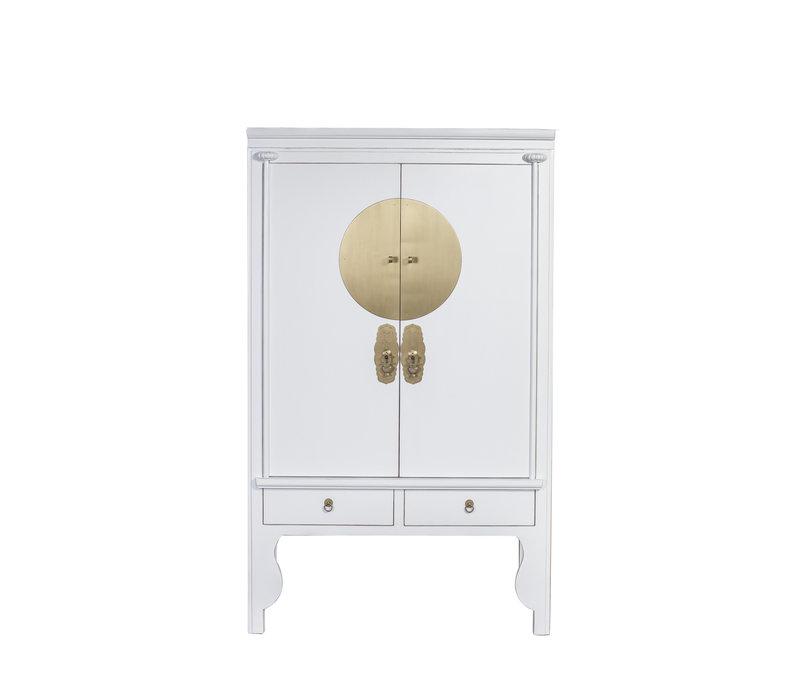 Chinese Bruidskast Wit- Sneeuwwit - Orientique Collection B100xD55xH175cm
