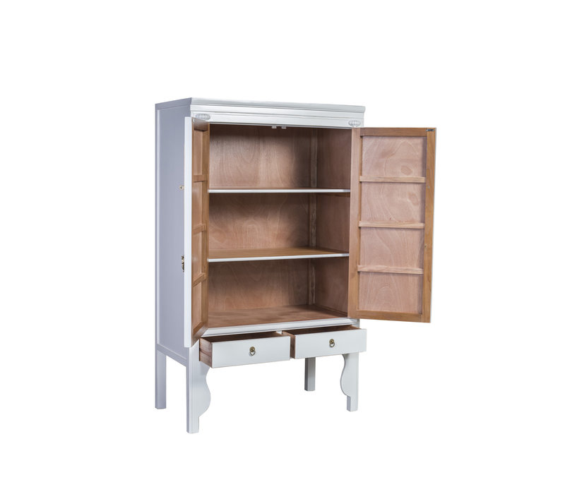 Chinese Wedding Cabinet Snow White - Orientique Collection W100xD55xH175cm