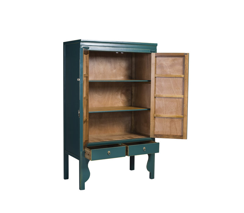Chinese Wedding Cabinet Jade Blue - Orientique Collection W100xD55xH175cm