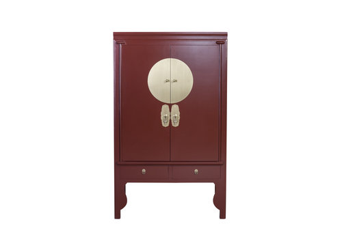 Fine Asianliving Chinese Wedding Cabinet Scarlet Rouge - Orientique Collection W100xD55xH190cm