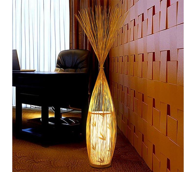 Bamboe Vloerlamp Handgevlochten - Demi