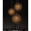 Fine Asianliving Lampada a Sospensione in Bambù Fatta a Mano - D90cm