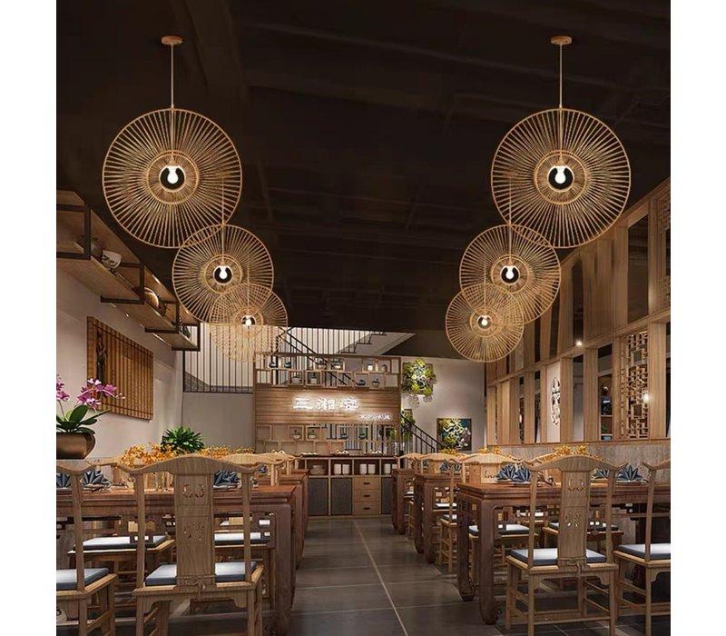 Lampada a Sospensione in Bambù Fatta a Mano - D90cm
