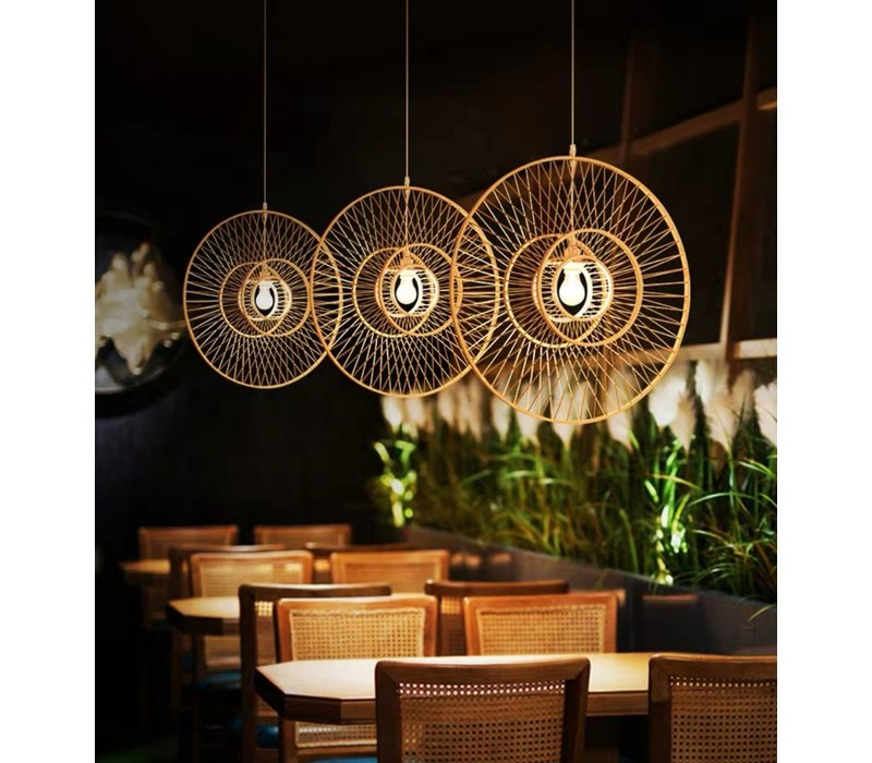 Bamboe Hanglamp Handgemaakt - Grace D90cm