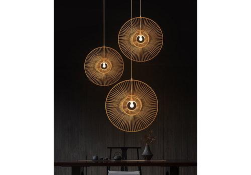 Fine Asianliving Lámpara de Techo Colgante de Bambú Hecha a Mano - Clemente D.60cm