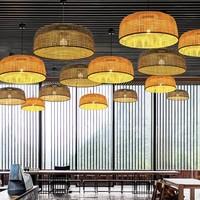 Bamboe Webbing Hanglamp Zwart - Sydney D65xH30cm