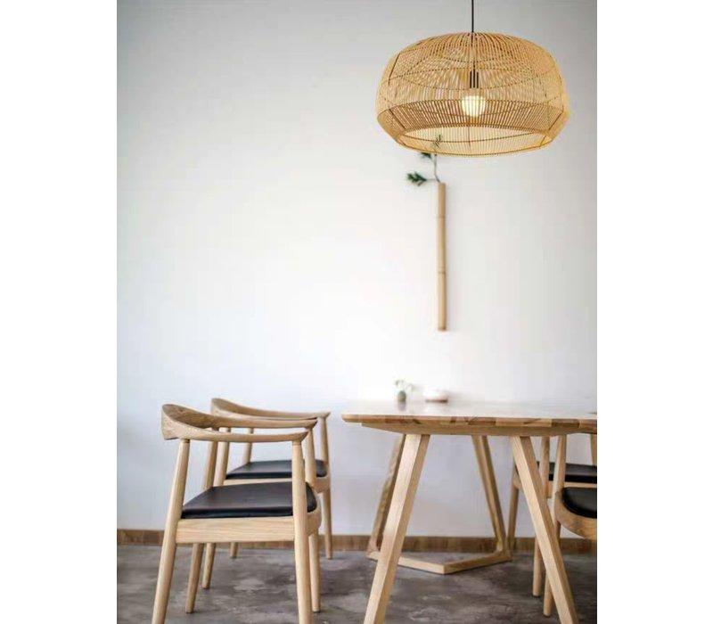 Bamboe Webbing Hanglamp Handgemaakt - Ady D53xH30cm