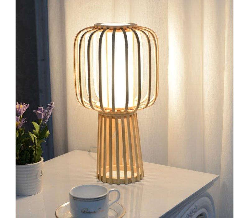 Lampada da Tavolo in Bambù Fatta a Mano - Aimee D32xA60cm