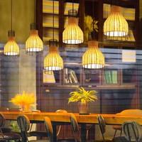 Bamboe Industrieel Hanglamp - Xiron D20xH35cm