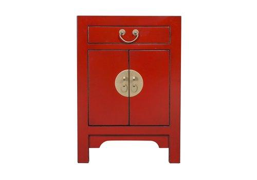 Fine Asianliving Chinesischer Nachttisch Nachtschrank Glücksrot B42xT35xH60cm