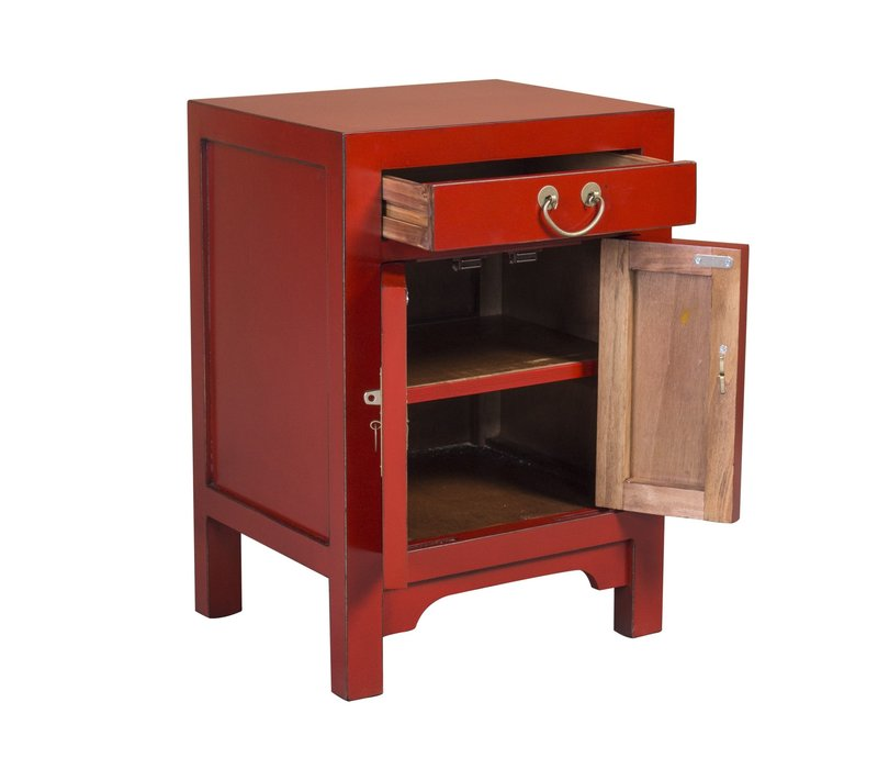 Chinees Nachtkastje Rood Lucky Red B42xD35xH60CM