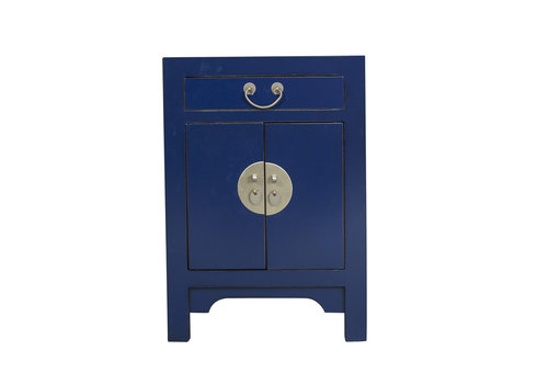 Fine Asianliving Chinees Nachtkastje Midnight Blue B42xD35xH60cm