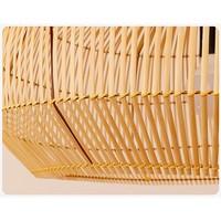 Bamboe Webbing Hanglamp Handgemaakt - Ariel D73xH40cm