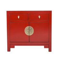 Chinese Kast Rood - Lucky Red - Orientique Collection B90xD40xH80cm
