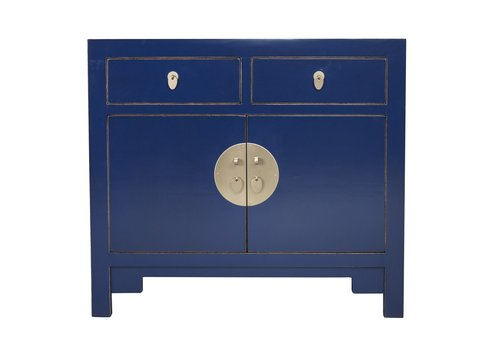 Fine Asianliving Chinese Kast Blauw - Midnight Blue - Orientique Collection B90xD40xH80cm