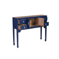 Chinese Sidetable Blauw - Midnight Blue Orientique Collection B100xD26xH80cm