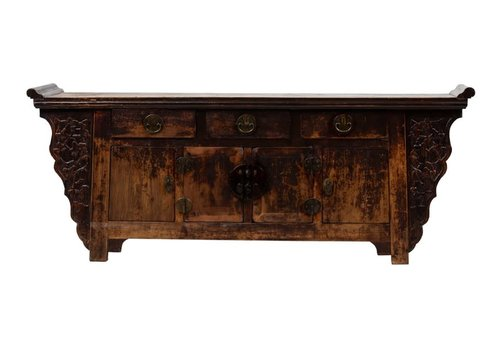 Fine Asianliving Antique Chinese Sideboard W217xD48xH87cm Handcarved