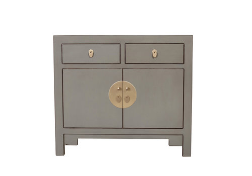 Fine Asianliving Chinese Cabinet Olive Grey - Orientique Collection W90xD40xH80cm